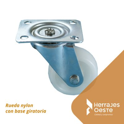 rueda nylon base gir