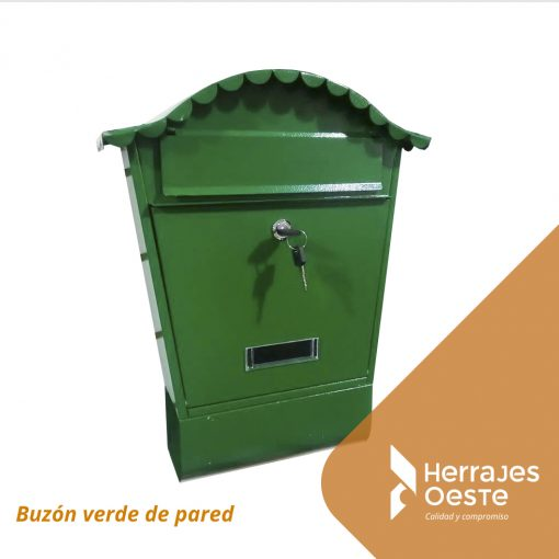 buzon pared verde